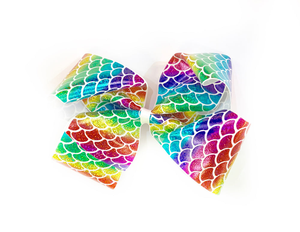 Mermaid Tail Foil 7 Inch Bow