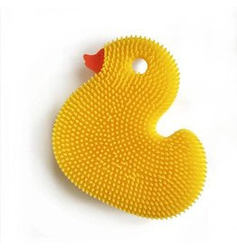 Squigee- Silicone Baby Bath Brush - Select Yellow or White Duck