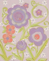 Load image into Gallery viewer, Glitter Lavender Flower II - CP314 - Wall Art- RBR1