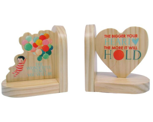 Dreamworld The Wonderful Things Wood Bookends