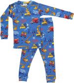 Goodnight, Goodnight Construction Site Pajamas - Dark Blue