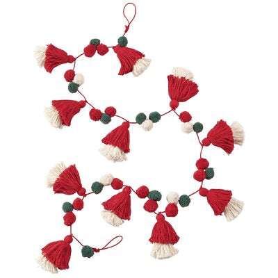 Layered Tassel Holiday Garland