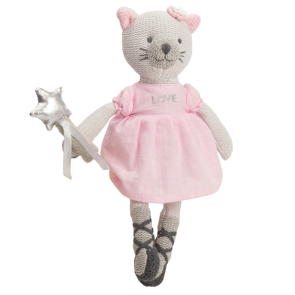 "Kitty Knittie Bittie-10"" with Rattle"