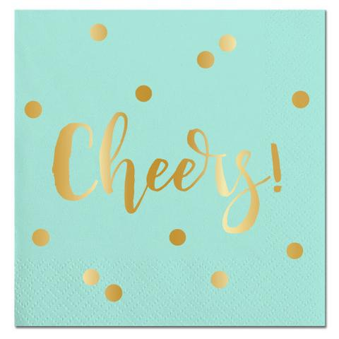 Cheers-Blue-Beverage Napkins-20 Count