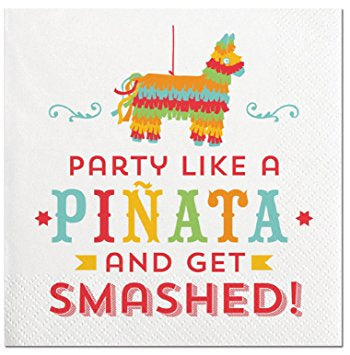 Party Like A Pinata-Beverage Napkins-20 Count