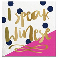 I Speak Winese-Beverage Napkins-20 count