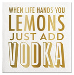 When Life Hands You Lemons-Beverage Napkins-20 Count