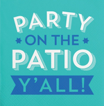 Party On The Patio Y'all-Beverage Napkins-20 Count