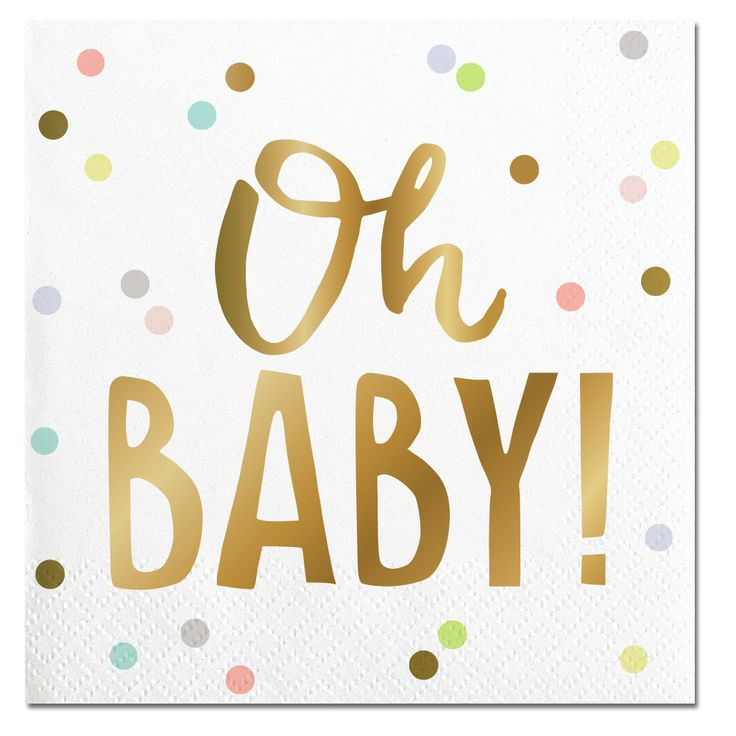 Oh Baby!-Beverage Napkins-20 Count