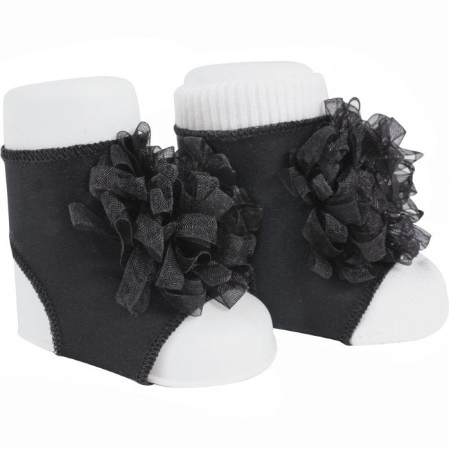 Black Ribbon Pom - Peep Toes