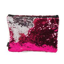 Magic Sequin Pink & Silver Pencil Pouch
