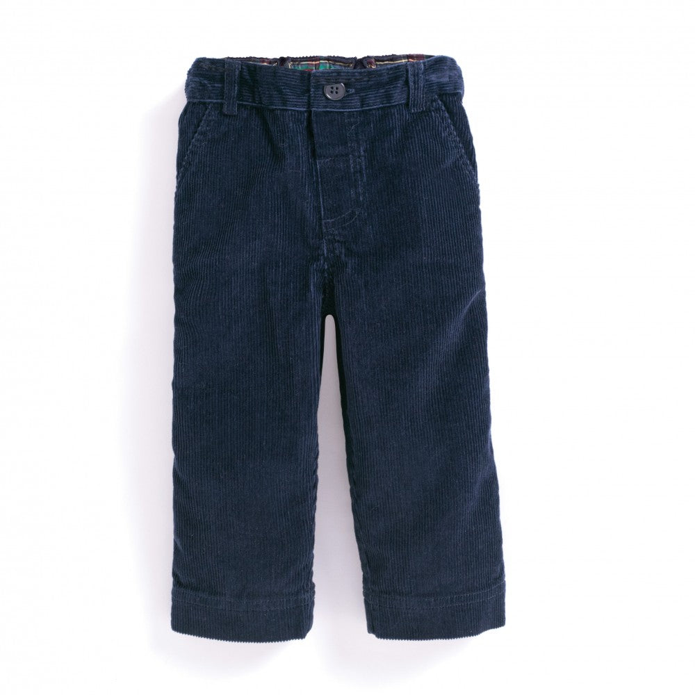 Corduroy Trousers- Navy - Select Size