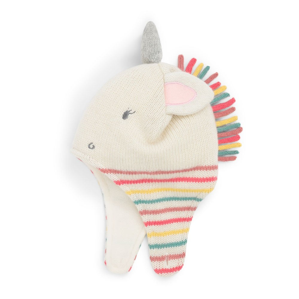 Unicorn Cream Hat - Select Size