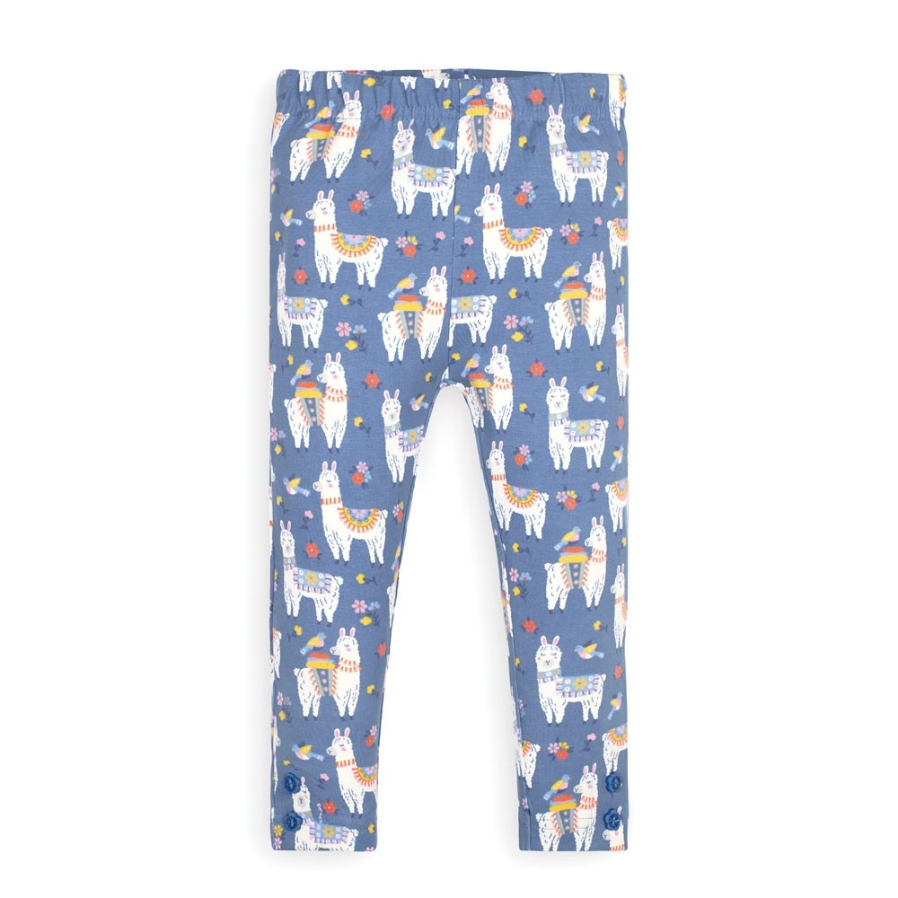 Llama Print Leggings - 5-6 Years
