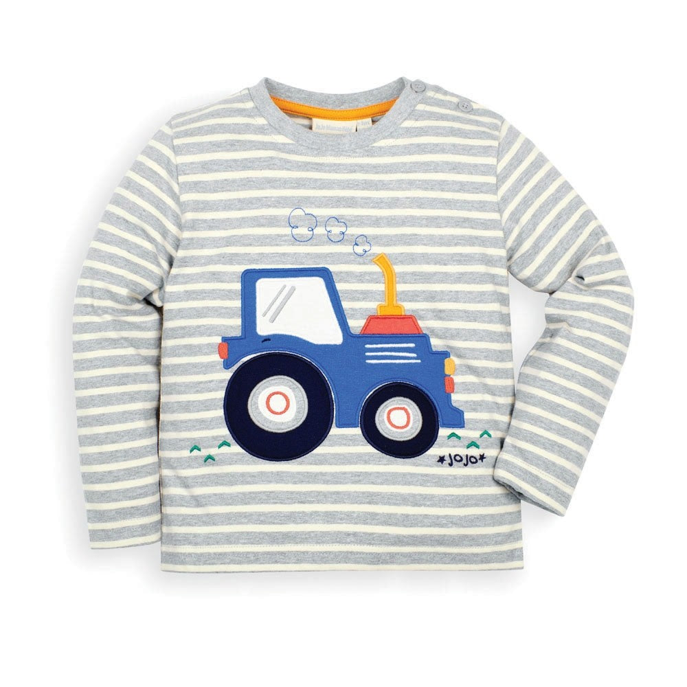 Tractor Top - Marl Grey - select size