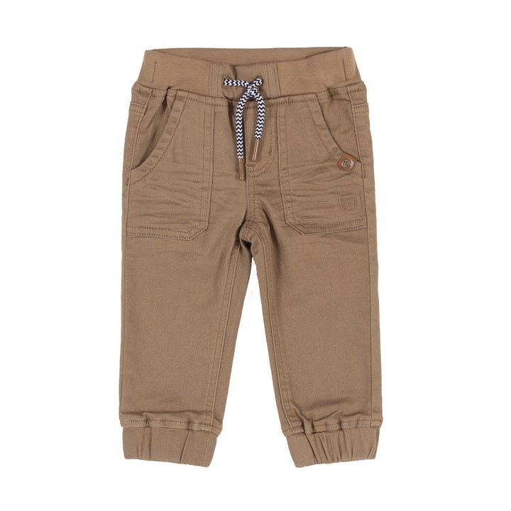 Taupe Twill Noruk Infant Boys Jogger Pants - Select Size