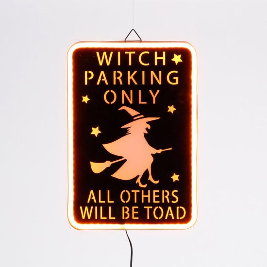 """Witch Parking Only! All Others Will Be Toad"" Sign"