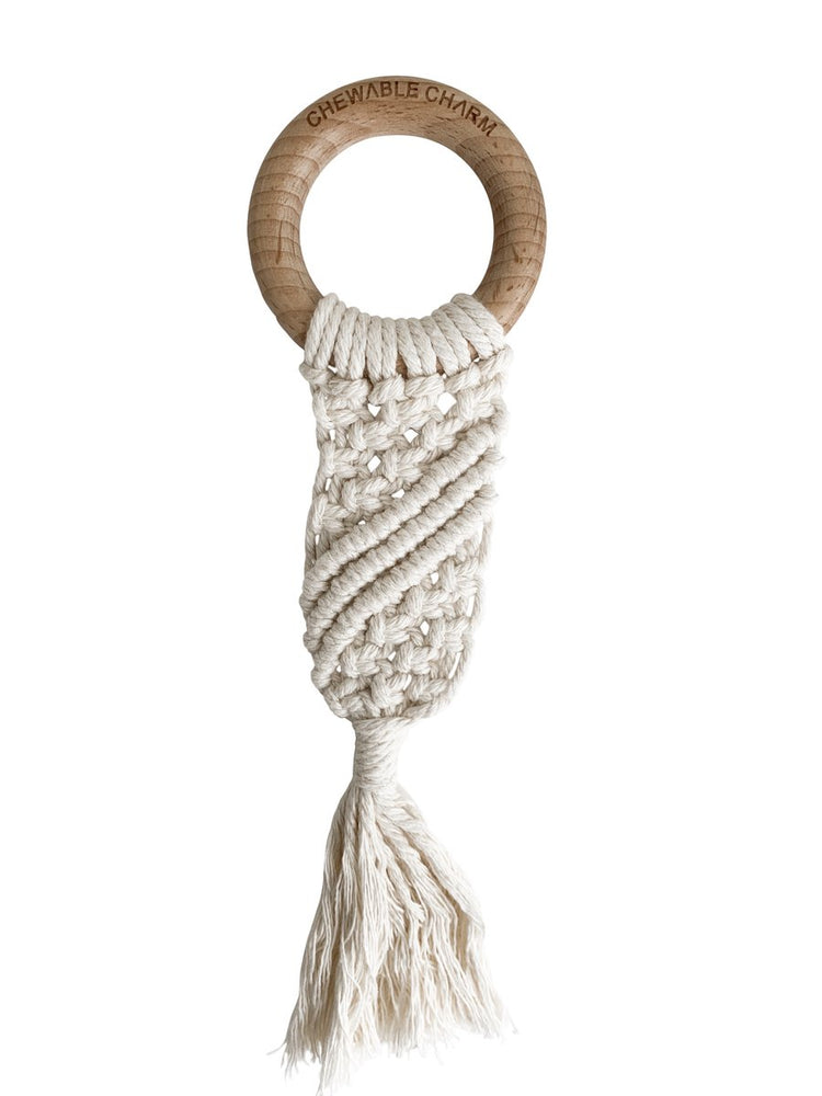 Luna Macrame Teether - Cream