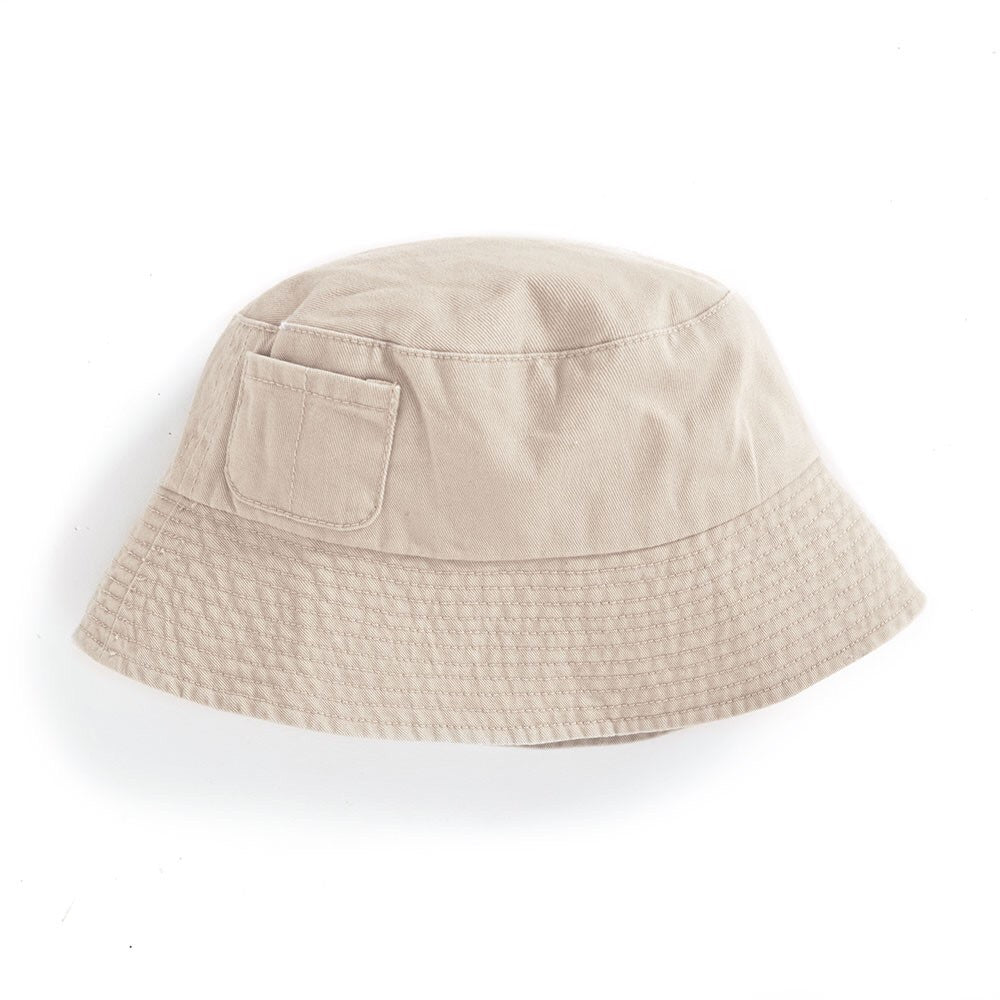 Boys' Twill Bucket Hat - Stone - Select Size