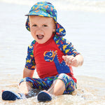 Red Dinosaur 2-Piece Sun Protection Suit - Select Size