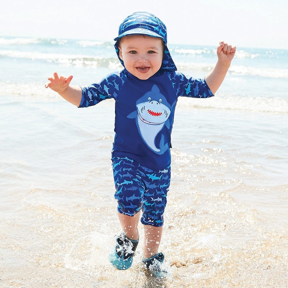 Blue Shark 2-Piece Sun Protection Suit - Select Size