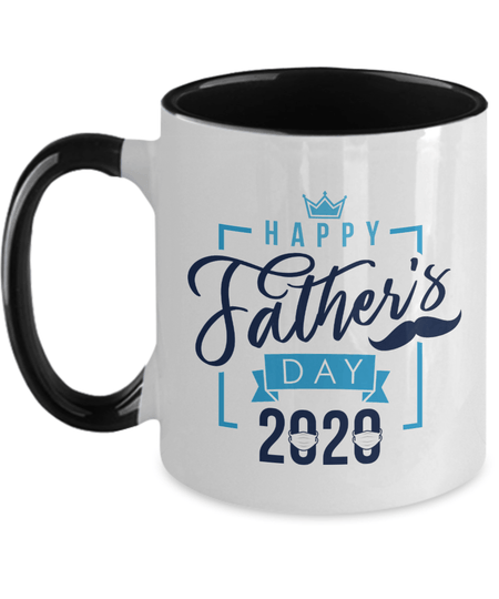 Gearbubble Coffee Mug Two Tone 11oz Mug / Black Happy Father's Day 2020 Mug