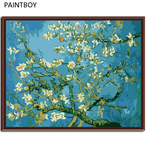 Paint By Numbers Almond Blossoms