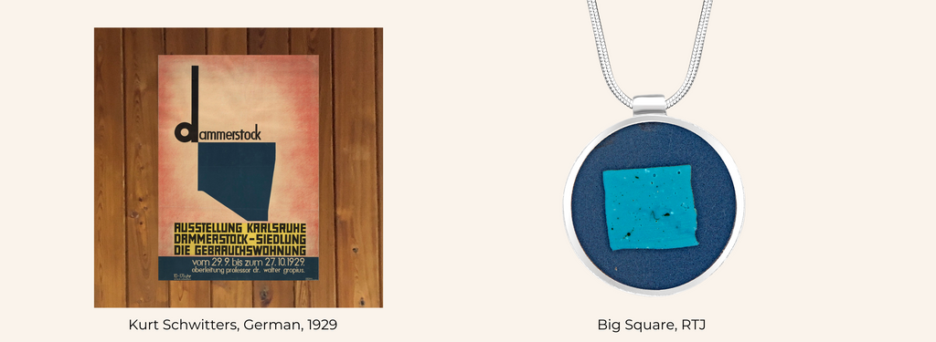 Kurt Schwitters + Big Square necklace