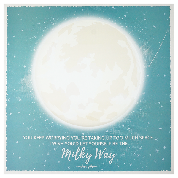 Milky Way Square Poster