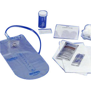 Curity™ Closed Urethral Catheter Tray with 14Fr Catheter and Accessories