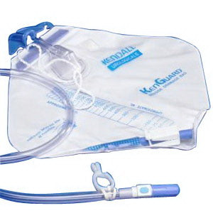 "KenGuard™ Dover™ Bedside Drainage Bag with Anti-Reflux Chamber 2000mL, 11/32"" dia. Tubing"