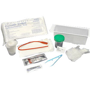 Nurse Assist Female Urethral Catheter Kit with 8Fr Catheter, Plastic Wallet, PVP Swabsticks, Gloves, Sterile