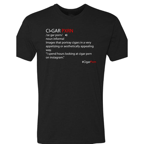 Black Cigar Pxrn Definition Men's Crew Neck T-Shirt