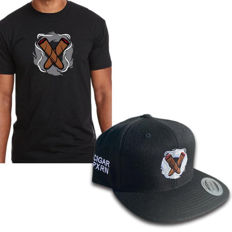 Cigar Pxrn T-shirt & Hat Combo
