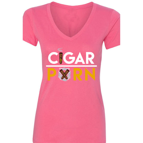 Pink Cigar Pxrn Women's V-Neck T-shirt