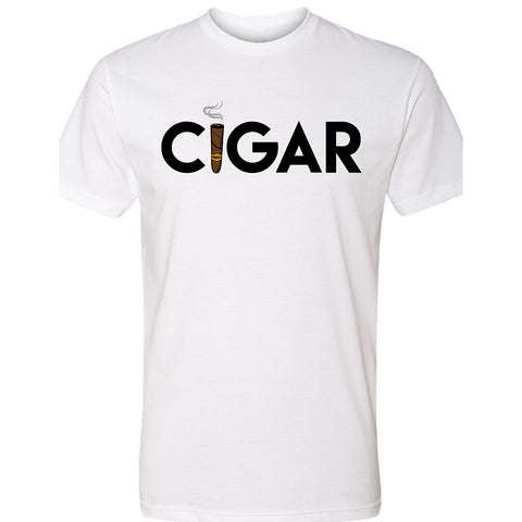 White Cigar Men's Crew Neck T-Shirt