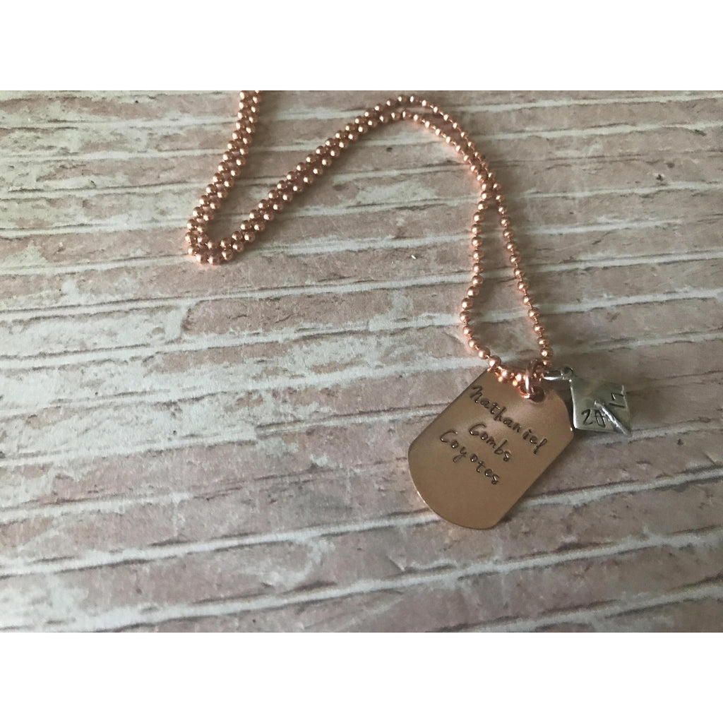 Personalized Graduation Copper Dog Tag