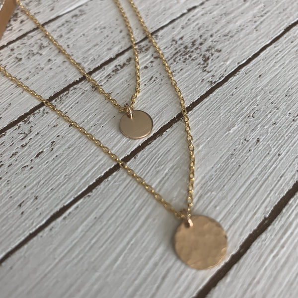 Delicate Gold Layering Necklace Set