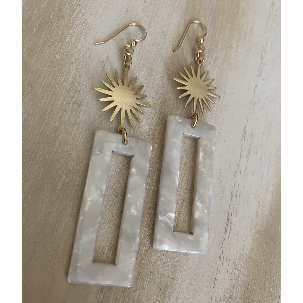 Resin Sunburst Earrings
