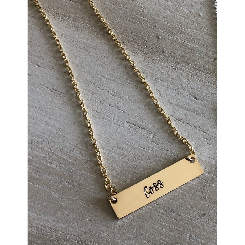 Boss necklace in gold