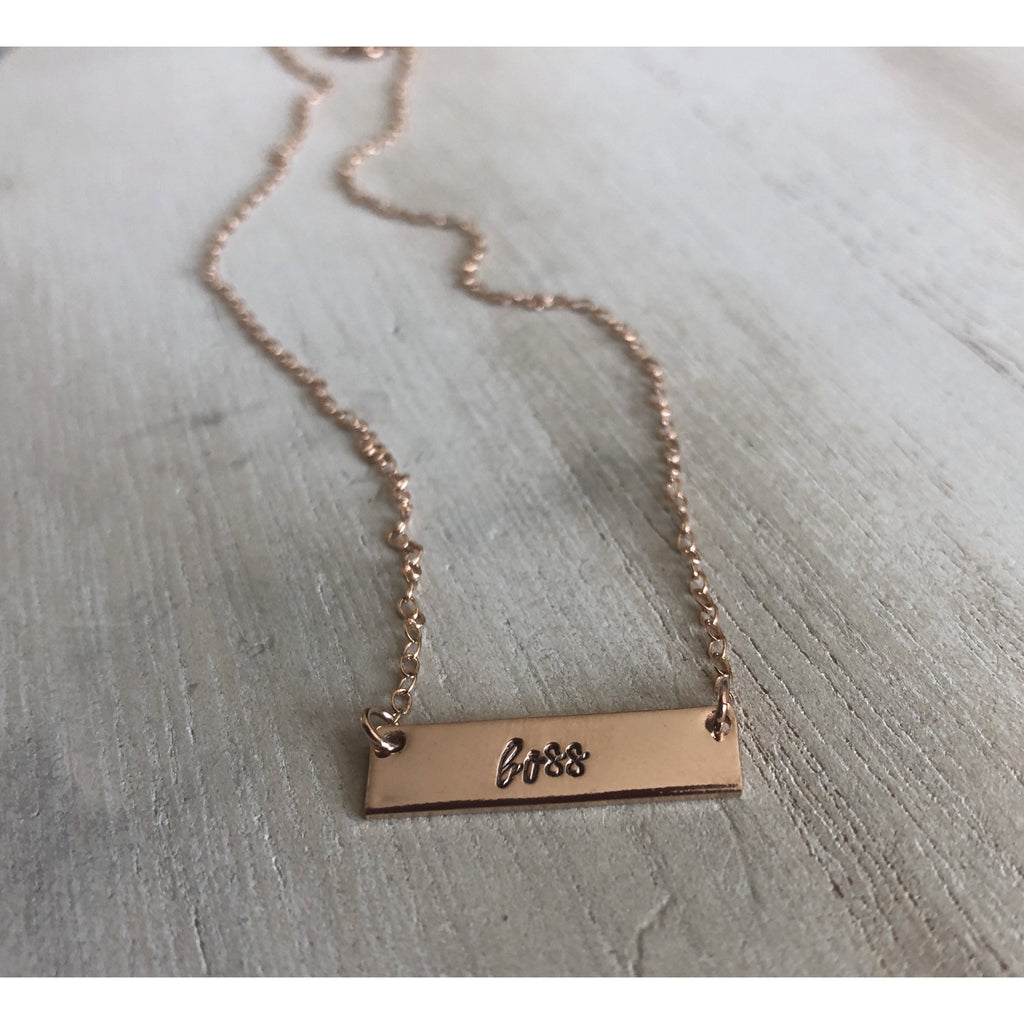 Boss necklace in rose gold