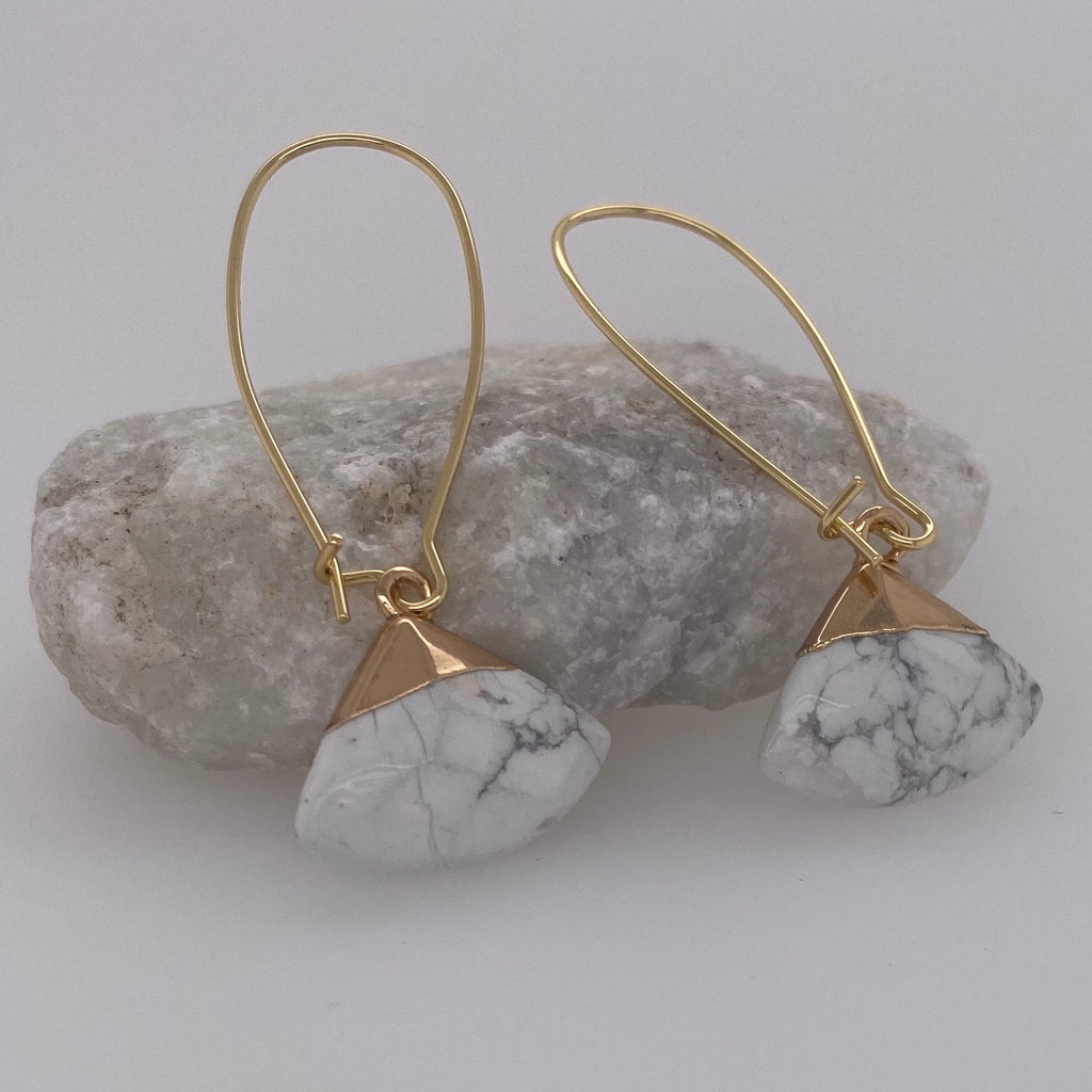 Howlite Drop Earrings