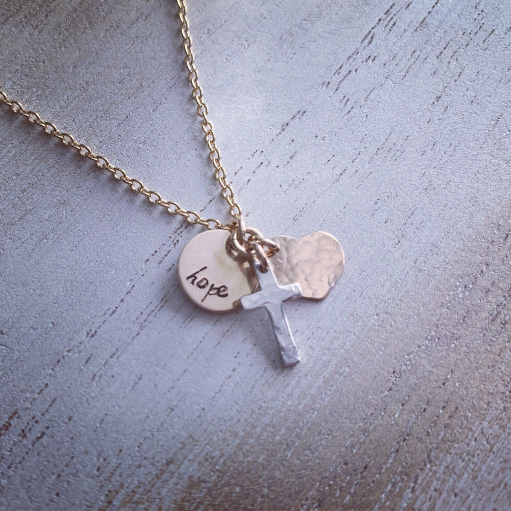 Faith, Hope and Love Necklace