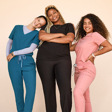 We have been working closely with healthcare professionals from all medical environments to learn how YOU want your scrubs to fit, and what makes the most comfortable, flattering scrubs—to keep up with you on the job all day long.