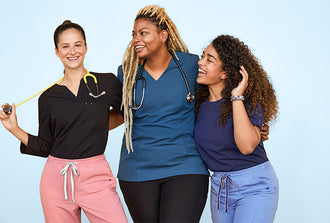 One of our favorite aspects of our Core Scrubs collection is the ability to mix and match—different styles and colors.