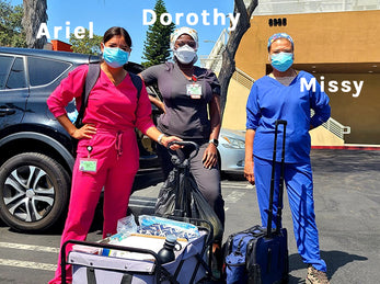 Meet Ariel, Dorothy and Missy: three extraordinary women bringing their skills and dedication to the streets of Los Angeles to care for people experiencing homelessness.