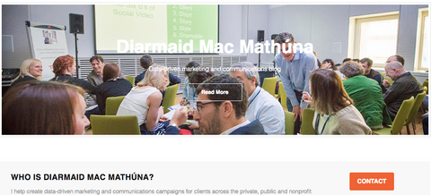 Diarmaid Mac Mathuna blog screen shot