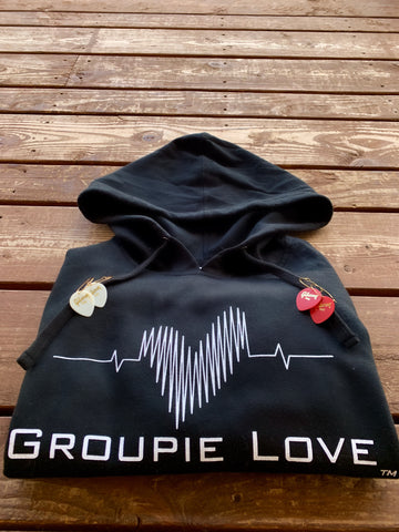 Groupie Love Black Hoodie Vintage Gibson Single Set