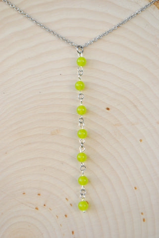 Peridot Silver Chain Necklace