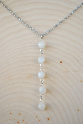 Moonstone Silver Chain Necklace